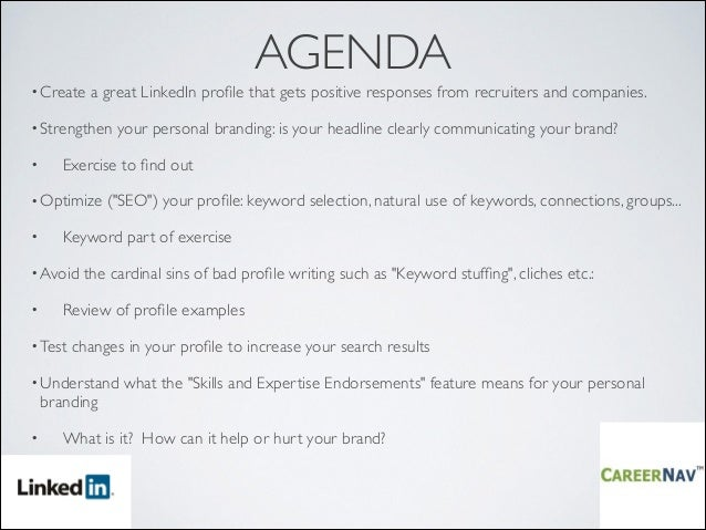 How to create a great LinkedIn profile Impress recruiters strength – How to Create a Agenda