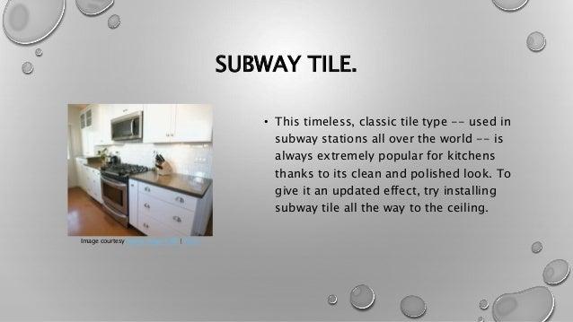 Backsplash Are 10 Subway Tile