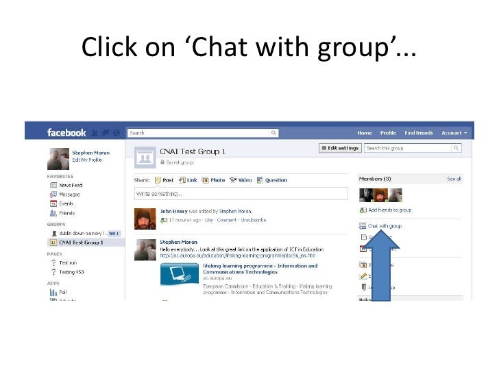 how to create a group chat in facebook