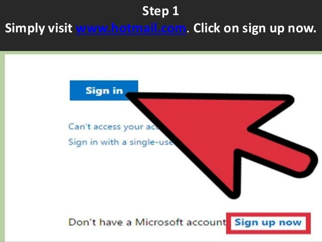 how to create a hotmail com account