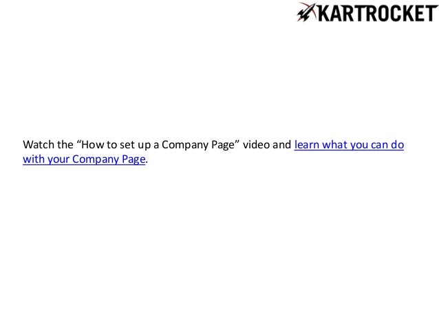 lnikedin how to create a company page