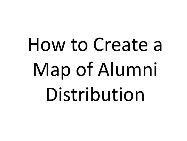 How to Create a Map of Alumni Distribution