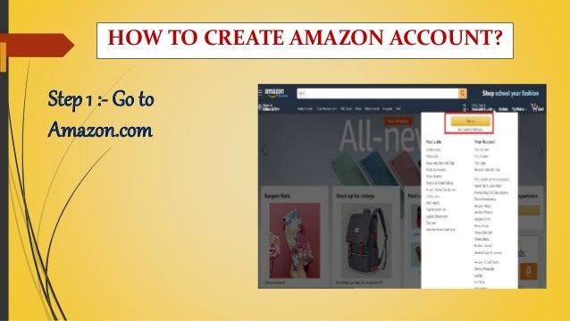 Step 1 :- Go to Amazon.com HOW TO CREATE AMAZON ACCOUNT?