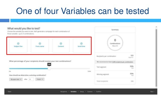 How To Create An AB Testing Campaign In MailChimp - Mailchimp template variables