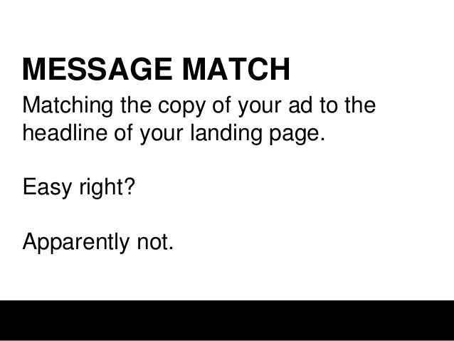 LANDING PAGE Generic brand-driven messaging