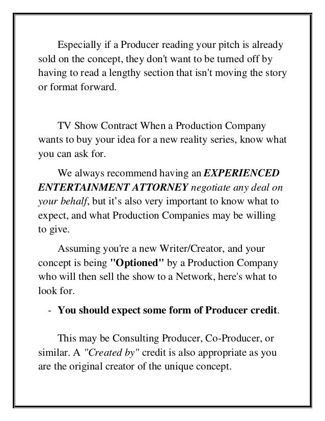 how to produce a reality tv show