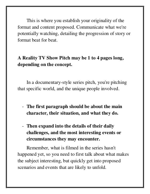 How to Create & Pitch Reality TV Show Ideas That Sell