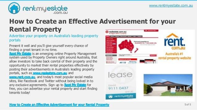 rental property advertising