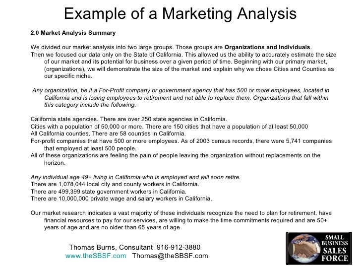 Marketing Analysis Example  Ex
