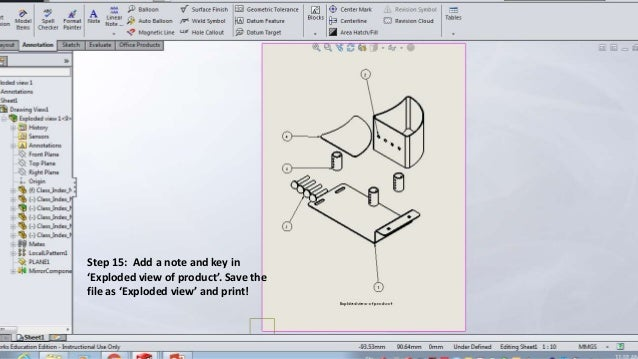 How to create an exploded view using Solidworks