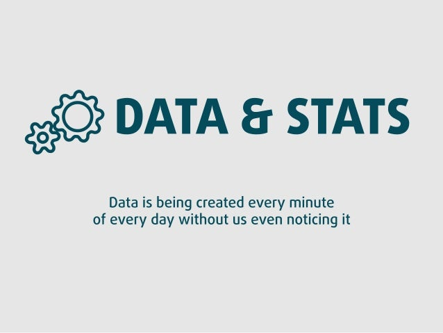 st? ) DATA & STATS  ta is being created every minute ery day without us even noticing it