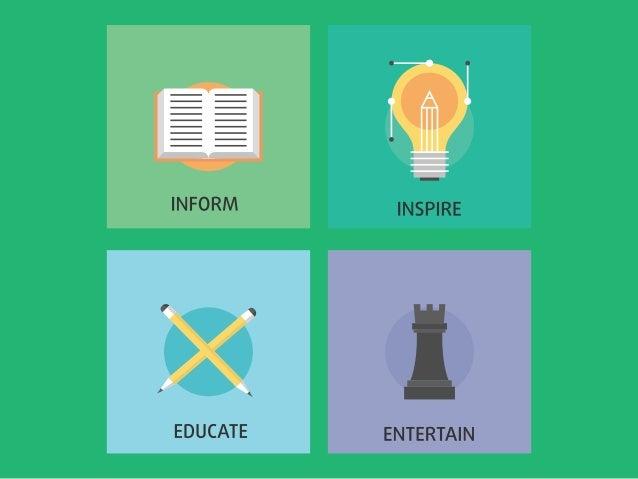 INFORM  EDUCATE    INSPIRE  [.   ENTERTAIN