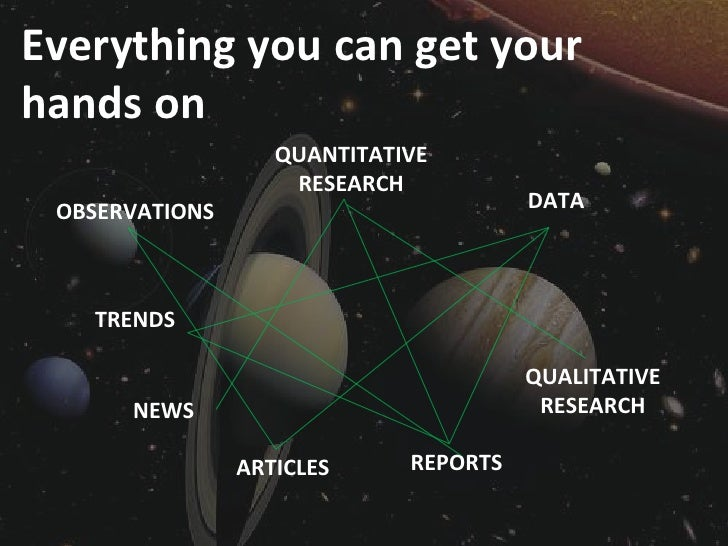 Everything you can get your hands on                    QUANTITATIVE                     RESEARCH  OBSERVATIONS           ...
