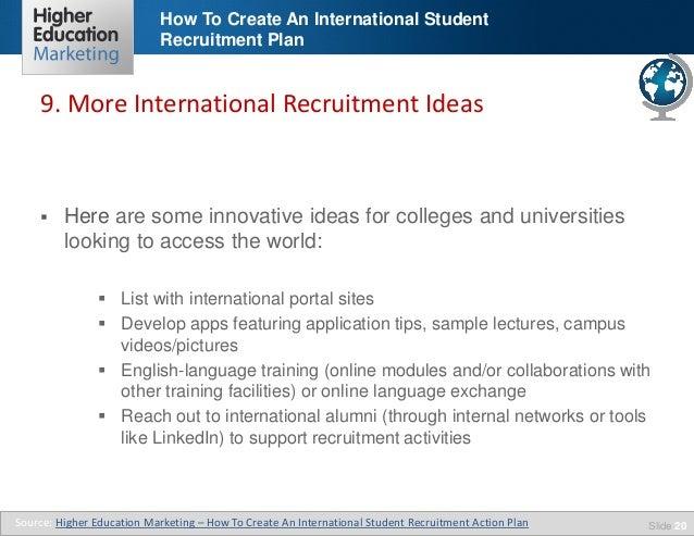 How to create an international student recruitment plan