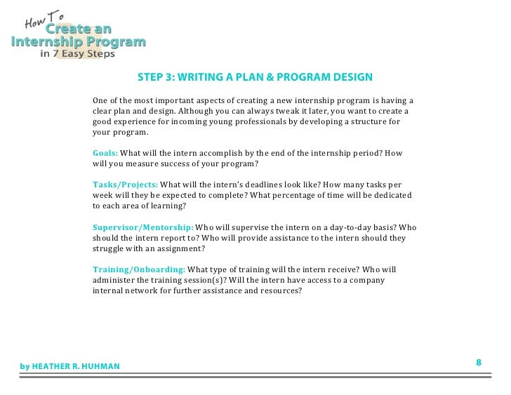 how to create an internship program in 7 easy steps