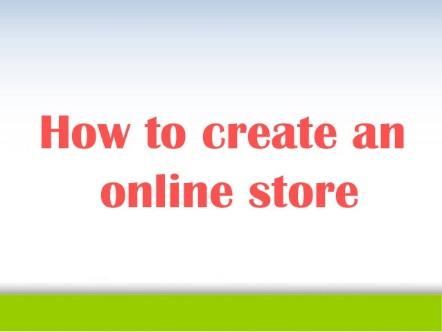 How to create an online store for Draw online share