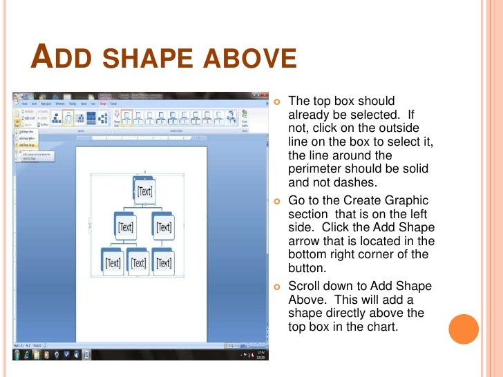 how to create organizational structure in word