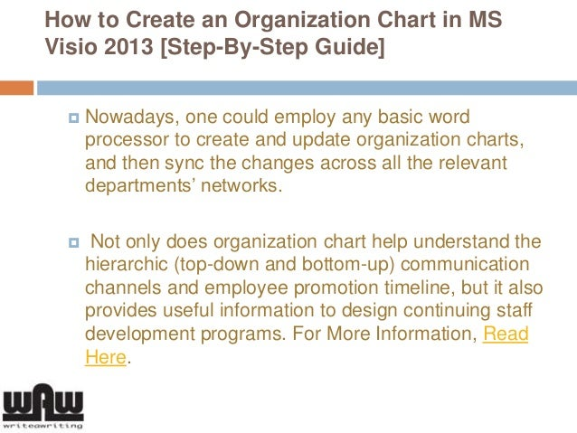 How To Create An Organization Chart In Ms Visio