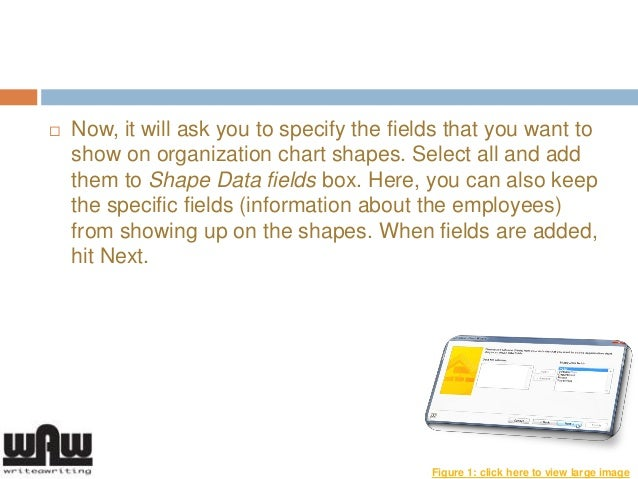 How To Create An Organization Chart In MS Visio 2013