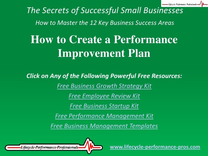 Video: How To Create A Performance Improvement Plan