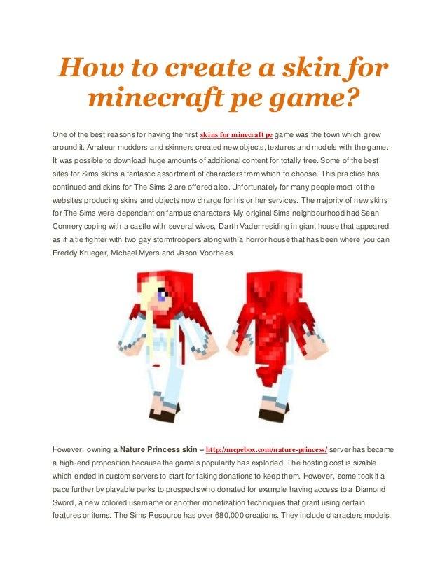 How To Create A Skin For Minecraft Pe Game - Skins para minecraft pe jason