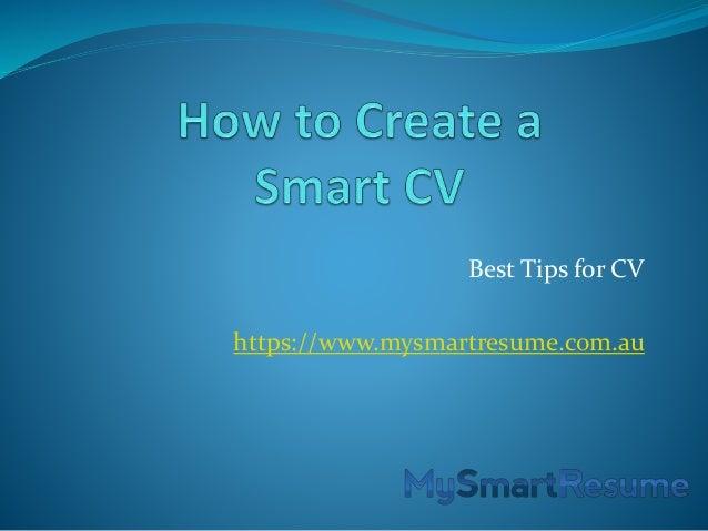 How To Create A Smart Cv