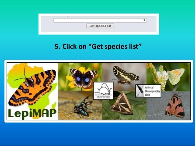 """5. Click on """"Get species list"""""""