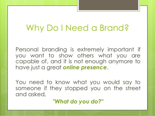 how to create a strong personal branding statement