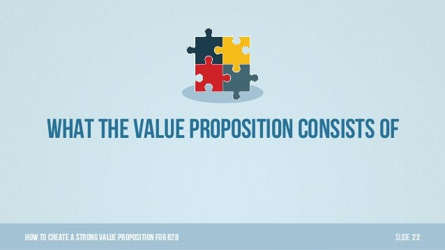 HowTo Create AStrong Value PropositionForB2B Slide What The Value Proposition Consists Of 22