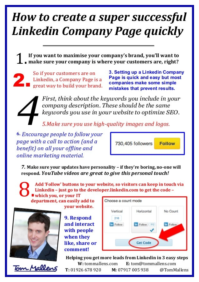 How  to  create  a  super  successful   Linkedin  Company  Page  quickly            If  you  ...