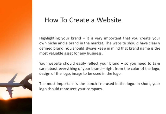 how to create my own website for my business