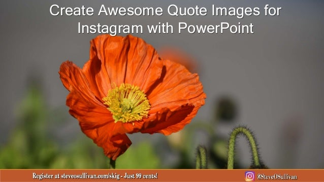 Create Awesome Quote Images for Instagram with PowerPoint