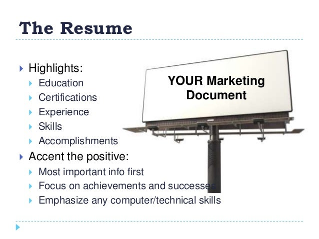 ... How To Create A Winning Resume Presented By: Bethany Bagley College Of  Education Career Consultant; 2.