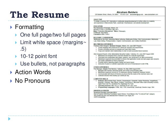 how to create a winning resume