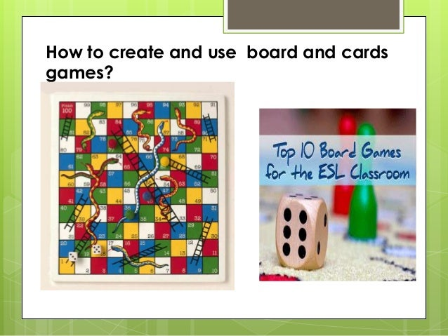 How to create and use board and cardsgames?