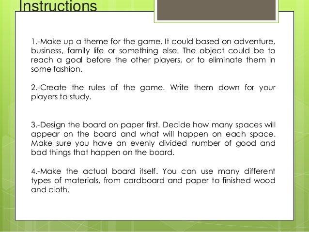 How To Create Board Games