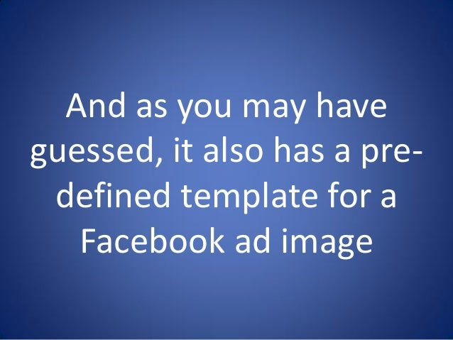 How To Create Facebook Ad In Canva - Facebook ad size template