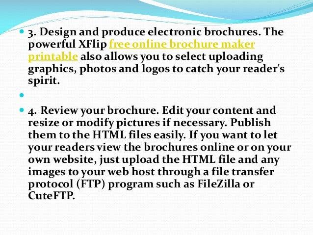 How to create free printable digital brochures