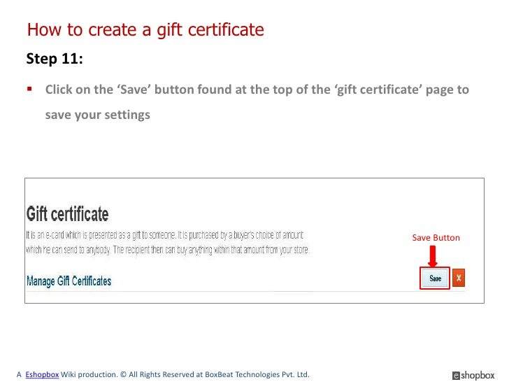how to create gift certificates