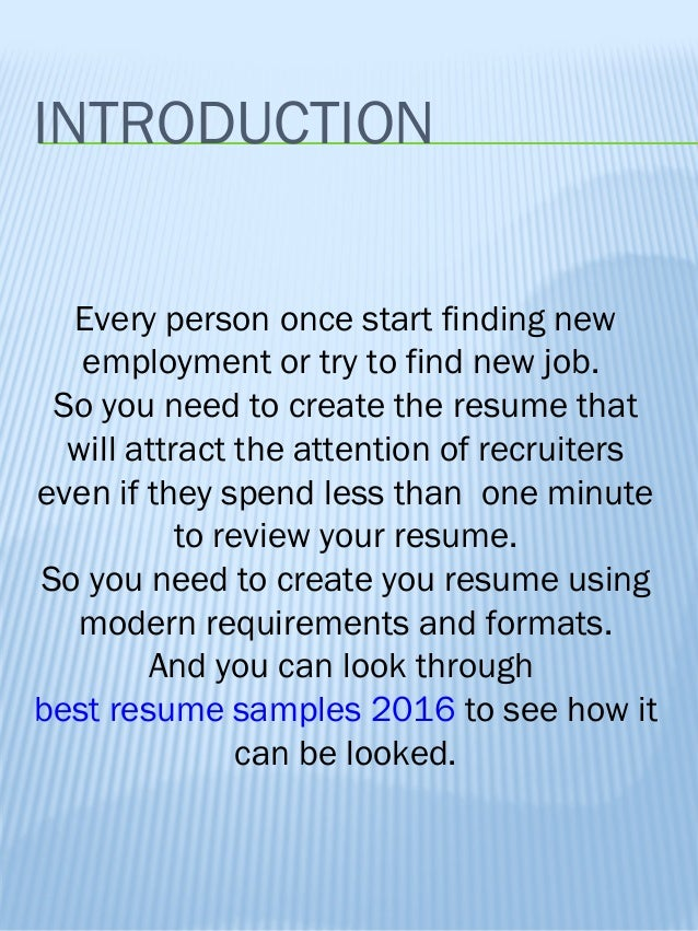 how to create good resume resume examples 2016 2