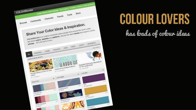 has loads of colour ideas