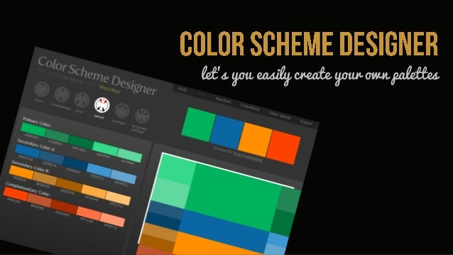 let's you easily create your own palettes