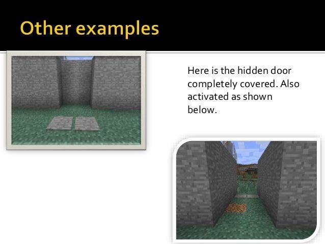 minecraft how to build a piston door