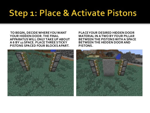 minecraft how to make piston door