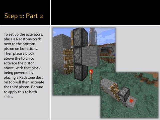 How to create a hidden Minecraft piston door