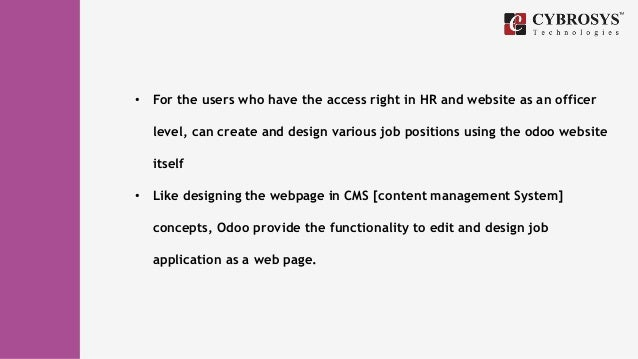 How To Create Hr Recruitment Form Using Odoo Cms