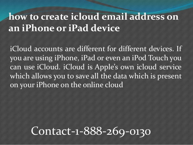 How to create icloud email address on an i phone