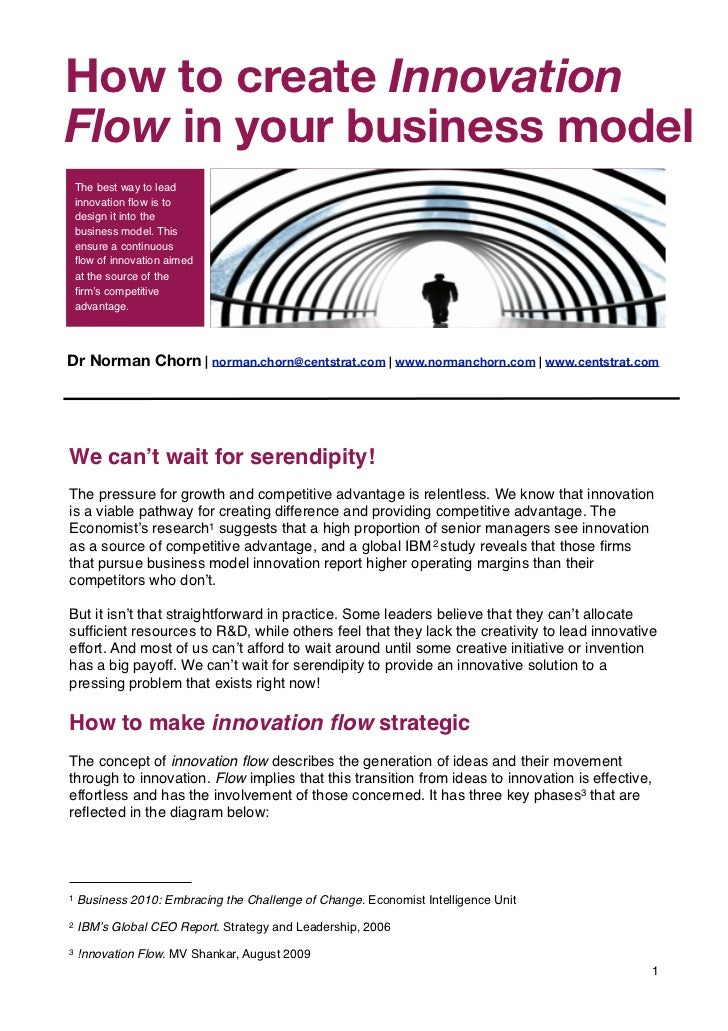 "How to create Innovation s          Part of the ""Living Organisation""Flow in your business model    The best way to lead  ..."