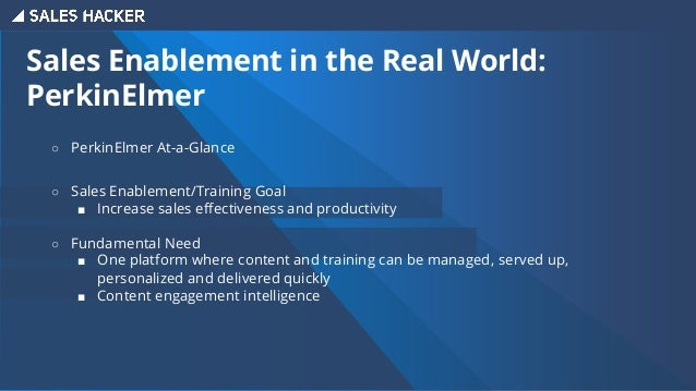 Sales Enablement in the Real World: An Integrated Approach An integrated enablement approach to drive more value across mu...