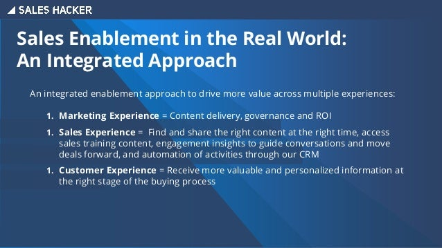 Sales Enablement in the Real World: Why Showpad/LearnCore? Sales & Marketing Alignment ○ One system for global commercial ...